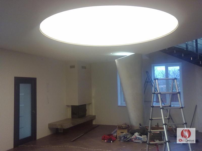 Натяжные световые потолки фото